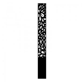 borne lumineuse motif pétal aluminium noir graphite - Décor Acier