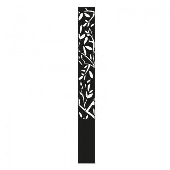 borne lumineuse branche d'arbre en aluminium noir graphite - Décor Acier