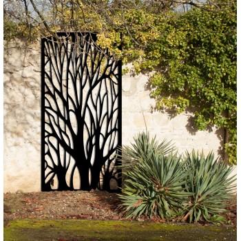 brise-vues arbre corten noir graphite - Décor Acier