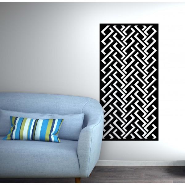 panneau mural Zig Zag corten noir graphite - Décor Acier