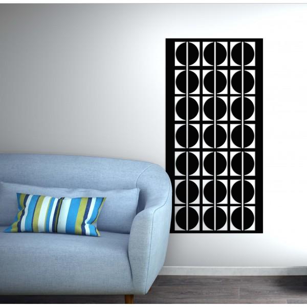 panneau mural motif rond corten noir graphite - Décor Acier