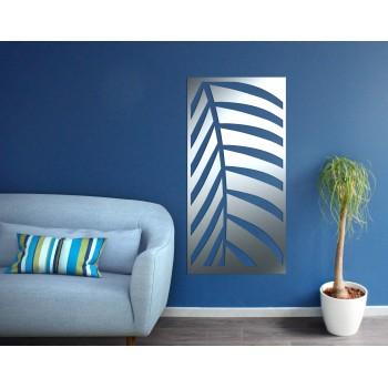 panneau mural palmier en aluminium gris - Décor Acier