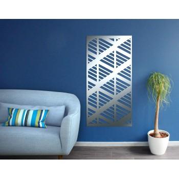 panneau mural motif triangle aluminium gris - Décor Acier