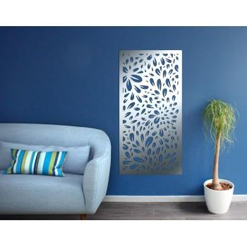 panneau mural pétale aluminium gris - Décor Acier