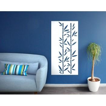 Panneau mural bambou corten blanc - Décor Acier