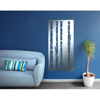 Panneau mural bambou aluminium gris - Décor Acier