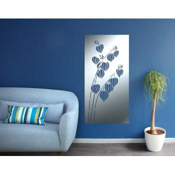 Panneau mural fleur aluminium gris - Décor Acier