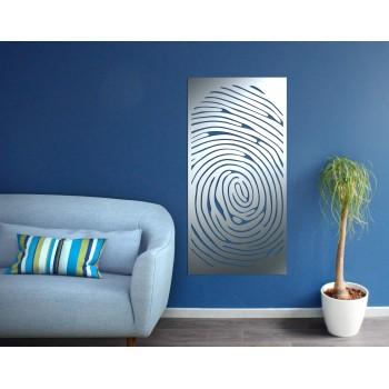 Panneau mural Cerne bois aluminium gris - Décor Acier