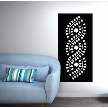 Panneau mural Interlace corten noir - Décor Acier