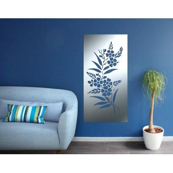 Panneau mural fleur corten gris - Décor Acier