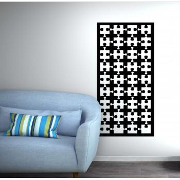Panneau mural puzzle corten noir - Décor Acier
