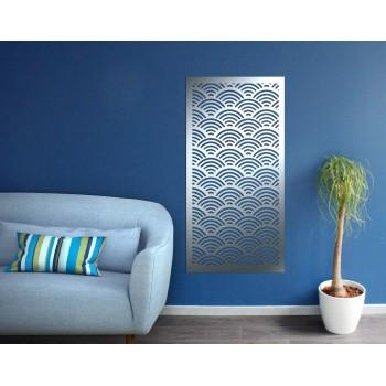 Panneau mural vague corten gris - Décor Acier