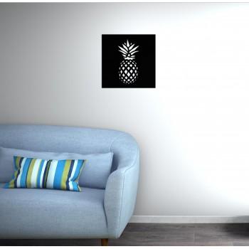 tableau métal ananas corten noir - Décor Acier