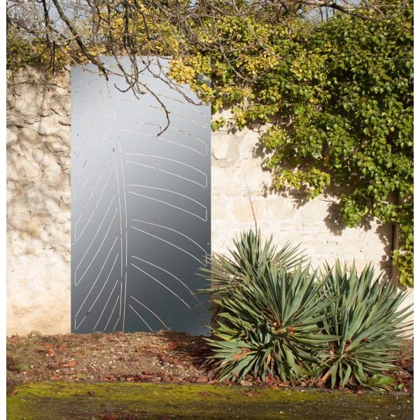 palme panneau mural ext rieur m tal panneaux m tal et. Black Bedroom Furniture Sets. Home Design Ideas