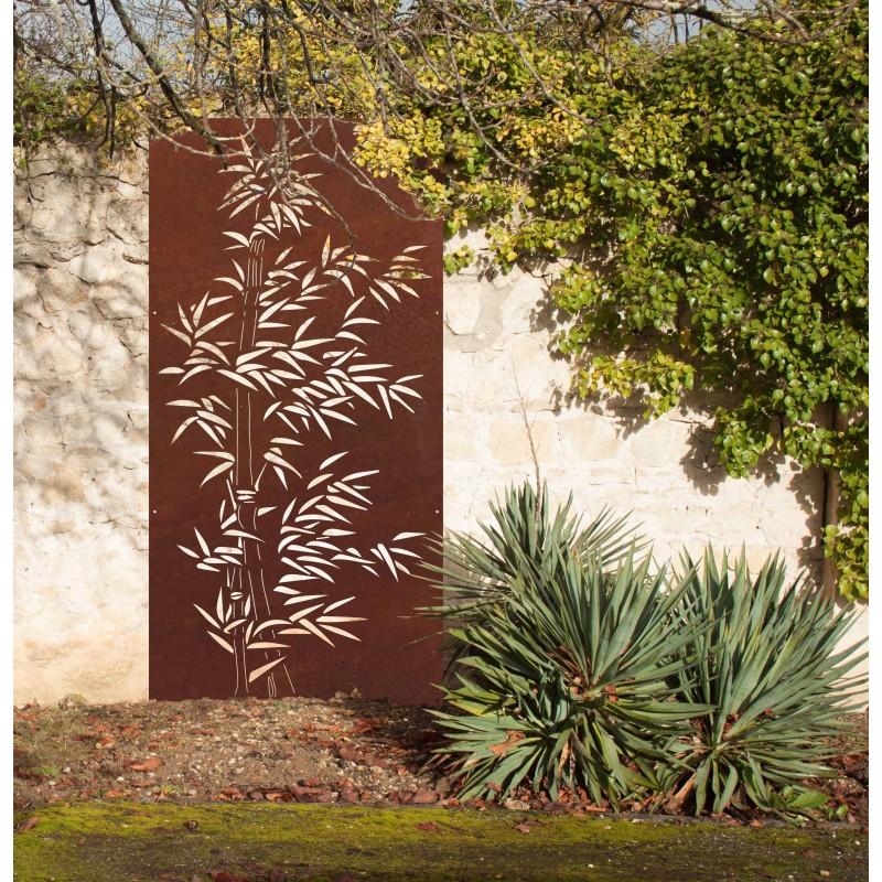 bambou panneau mural design industriel panneaux m tal et objets d co acier. Black Bedroom Furniture Sets. Home Design Ideas