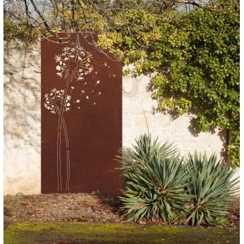 Fleur de pissenlit, panneau cache mur design