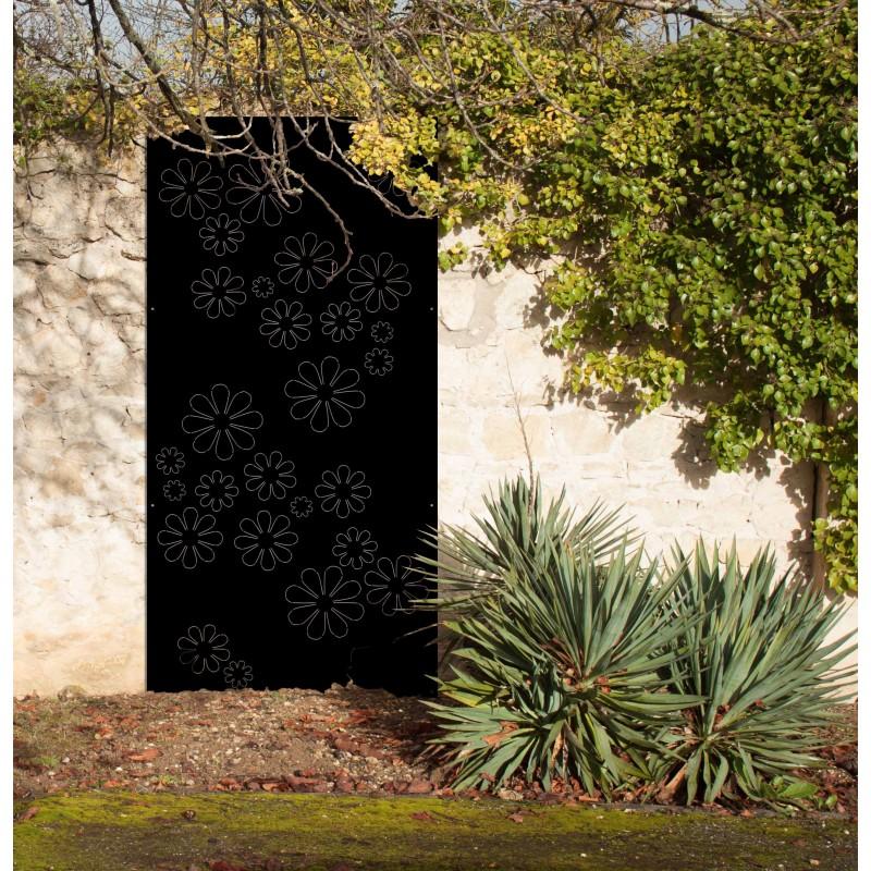 flowers 70 39 panneau cache mur en acier panneaux m tal et objets d co acier. Black Bedroom Furniture Sets. Home Design Ideas