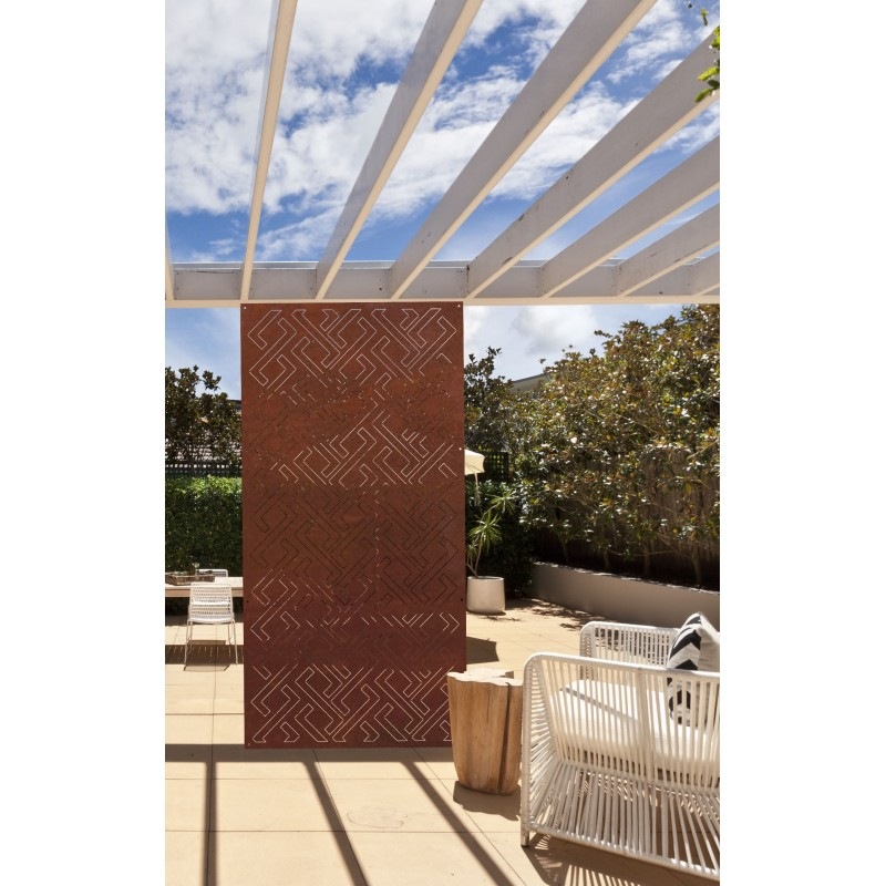 zig zag brise vue design acier panneaux m tal et objets d co acier. Black Bedroom Furniture Sets. Home Design Ideas