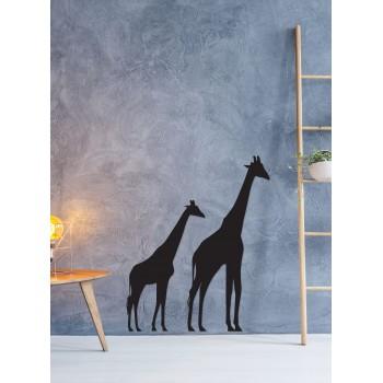 Girafe savana, objet décoratif en métal peint