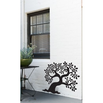 Olivier, décor mural extérieur en métal