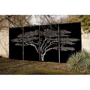 Brise vue Savana Acacia en aluminium peint noir graphite